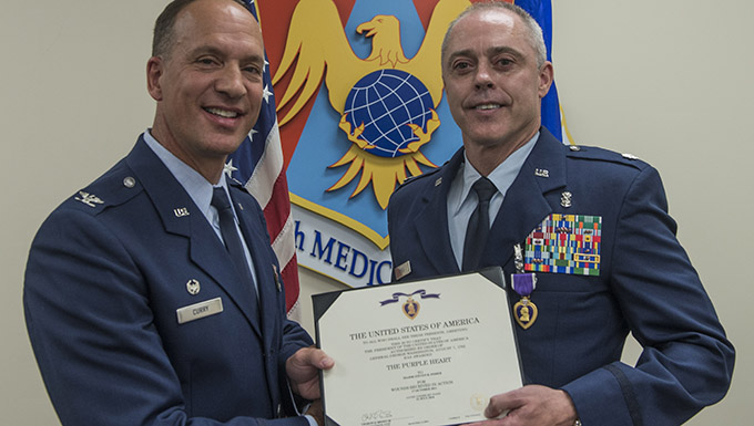 375th MDG medic receives Purple Heart